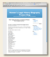 Women's Leagal History Review Project Review